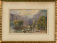 Late 19th Century Watercolour - Boat Ride
