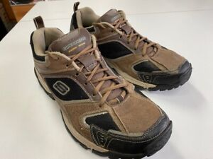 Skechers 92 Running/Hiking Shoes Leather Upper Blk/Brown SN 50870 Mens Size 13