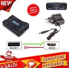 CONVERTITORE VIDEO HD AV ADATTATORE DA SCART A HDMI 720P 1080P AUDIO COASSIALE