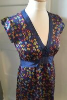 Whistles Silk Flowery Tea Dress 1940's Style Size 8