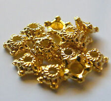 100pcs 6x2mm Metal Alloy Star Spacer Bead Caps - Bright Gold