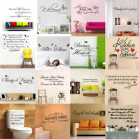 Removable Home Decor Quote Wall Sticker Bathroom Bedroom Vinyl Decal Kitchen