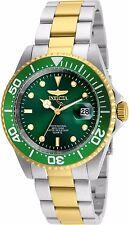 24950 Invicta Pro Diver Quartz Men's 40mm Green Dial 2 Tone SS Bracelet Watch