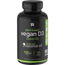 Investigación de Deportes Vegano Vitamina D3 Suplemento Dietético - 60 cápsulas blandas
