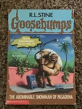 Goosebumps #38: The Abominable Snowman of Pasadena by R. L. Stine : 1st Printing