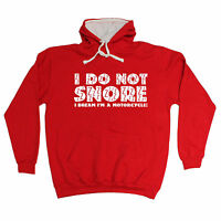 I DO NOT SNORE DREAM IM A MOTORCYCLE HOODIE motorbike hoody funny birthday gift
