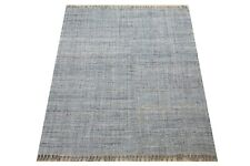 8X10 Jute Kilim Hand-Knotted Area Rug Natural Modern Contemporary Carpet