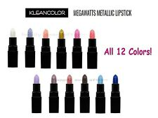 12 Pcs Kleancolor Metal Lipstick Set! Megawatts Metallic Lipsticks *New*