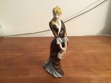 Vintage Figurine Beautiful Lady with Dress Signed Italy
