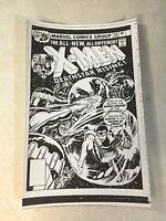 X-MEN #99 COVER ART original cover proof SENTINELS, 1976, CYCLOPS, STORM