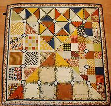 "PIERRE BALMAIN silk patchwork pattern print scarf 33"""