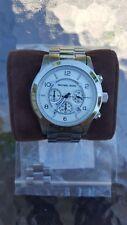 MICHAEL KORS MK8086 Silver Oversized Runway Watch