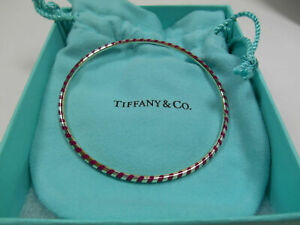 Tiffany & Co. Picasso Venezia Palina Purple Enamel Sterling Silver Bracelet