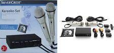 Karaoke Set Anlage Silvercrest TM210 zum Anschluss an DVD-Player und TV NEU&OVP