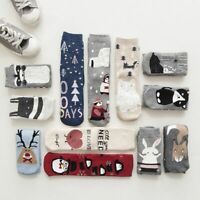 Women Warm Christmas Cotton Socks Lovely Animal Pattern Autumn Winter Cartoon On