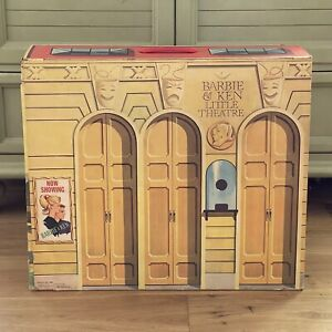 Barbie and Ken Little Theatre with Backdrops, Scenery and Tickets. Vintage EUC