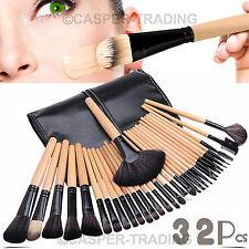 Professional 32 PCs Kabuki Make Up Brush Set Cosmetic Makeup Brushes Case Tools