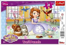 Trefl 15 Piece Baby Kids Girls Infant Sofia The First Frame Floor Jigsaw Puzzle