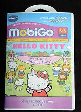VTech MobiGo MobiGo 2 Software HELLO KITTY BIRTHDAY PARTY Learning Games ~~NEW~~