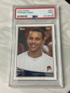 2009 Topps Basketball Stephen Curry ROOKIE RC #321 PSA 9 MINT
