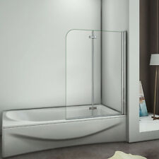 1200x1400mm 180° Hinge 2 Fold Bath Shower Screen Door Panel Tempered Glass