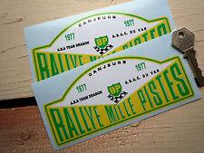 """Rallye mille pistes 1977 rallye plaque classique voiture de course autocollants 6"""" paire opel manta"""