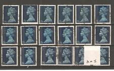GB - MACHIN DEFINITIVES  -M05- 1/6d  VALUE - 18 COPIES - COMMERCIALLY  USED