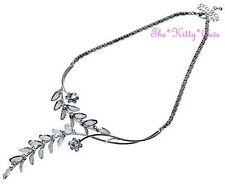 Delicat Argent Maille Dentelle Fleur Floral Bal De Mariage Collier w