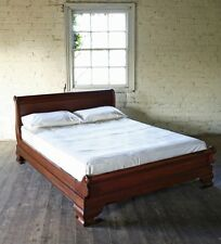Solid Mahogany Sleigh Bed 6' SuperKing Traditional French New Low Foot Board New