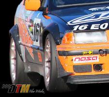 BMW E36 Rivet On Style Front + Rear Wide Body Fender Flares DTMFiberWerkz Race
