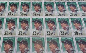 US full mint sheet of 50 #2417 Lou Gehrig MNH OG