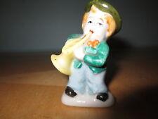 Vintage Occupied Japan mini trumpet playing figure w hat