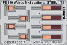 Eduard Models 1/48 Supermarine Walrus Mk.I Seatbelts for Airfix kit (Steel)