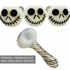 Halloween Skeleton Head Glass Pipe Glass Tobacco Pipe Smoking Accessories Mini