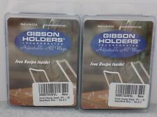 4 Gibson Holders Small Adjustable Display Stands 1Pl Black New 2 Packs of 2 Each