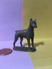 Pinscher gold plastic dog figure Nabisco cereal premium doll house play set