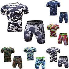 Men Shorts workout pants Soft Basketball Gym Fitness T-Shirt Sport Camouflage