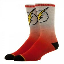 DC Comics Flash Ombre Crew Socks New BIOWORLD