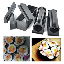 New DIY Sushi Maker Kit Rice Roll Mold Kitchen Easy Chef Set Mould Roller Cutter