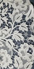 """Antique Edwardian Irish Crocheted Museum Quality 33"""" Round Table Scarf Heirloom"""