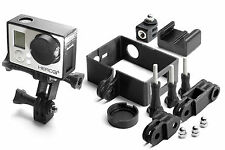 Frame Mount Set per GoPro Go Pro HD HERO 3+ BLACK Tripod QUADRO ACCESSORI 10 pezzi