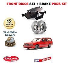 Para Volvo 850 1993-1997 2.0 2.3 2.5 Nuevo frente Discos De Freno Set + Almohadillas De Disco Kit