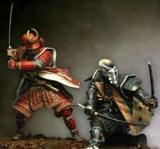 Duelling Japanese Samurai Tin Painted Toy Soldier Miniature Pre-Order | Museum