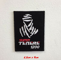 Super Tenere 1200 Dakar Art Badge Iron or Sew on Embroidered Patch