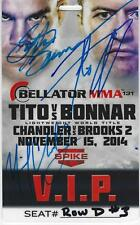 Michael Chandler Tito Ortiz Signed Bellator MMA 131 Official VIP Pass Ticket UFC