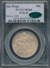 1936-D San Diego Commemorative Half Dollar PCGS MS 66/CAC *Older Blue Holder!*