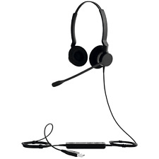 Jabra BIZ 2300 Duo USB Over the Head Corded Headset 2399-829-119 US Seller