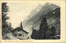 Konstanzer Hütte Tirol Österreich s/w AK um 1900 Berghütte Alpen Pateriol Spitze