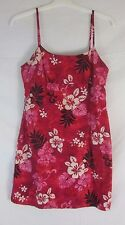 Pacific Legend Red Hawaiian Floral Spaghetti Strap Dress - Junior's Large - H95