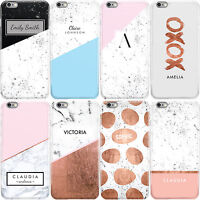 PERSONALISED MARBLE NAME/INITIALS/LETTER PHONE CASE COVER FOR APPLE IPHONE